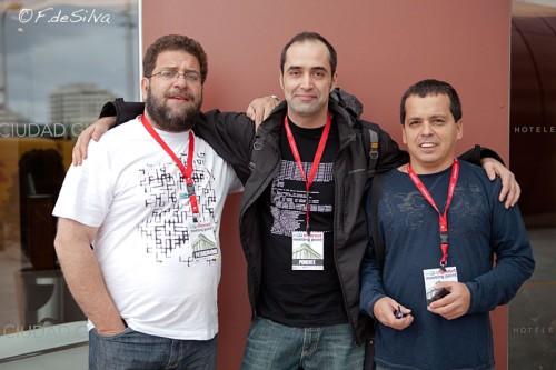 Con Fernando de la Cuadra y Ricardo Galli